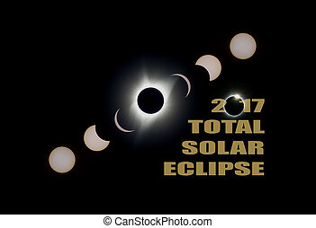 2017 Total Solar Eclipse Phases