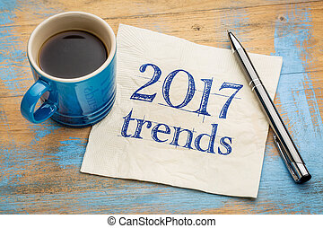 2017 trends concept on napkin