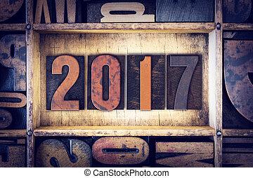 2017, type, concept, letterpress