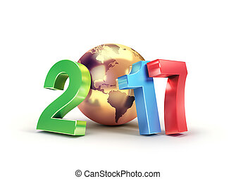 2017 Worldwide greeting symbol