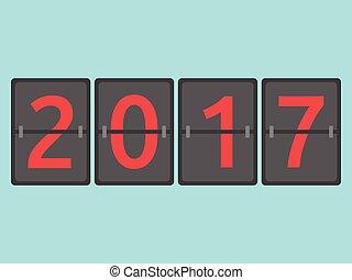 2017 year flip clock