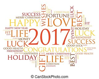 2017 year greeting word cloud collage happy new year vectors 2017 year greeting word cloud collage m4hsunfo Image collections