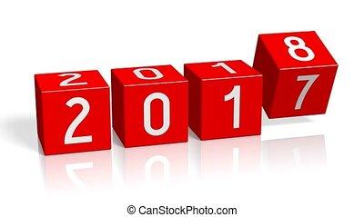 2017/2018, ano novo, mudança, conceito