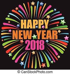 2018, ευτυχισμένος , έτος , καινούργιος
