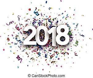2018, νέο έτος , κάρτα , με , serpentine.