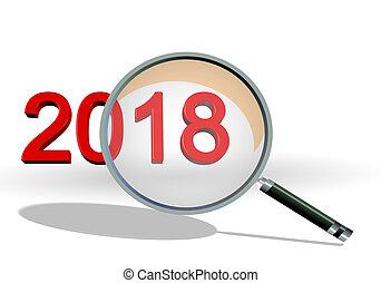 2018, テキスト, レビュー, -, フォーカス, len, レンダリング, 数, 3d, 詳細