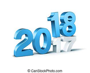 2018, 幸せ, 年, 新しい