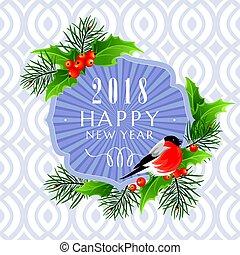2018, 新年おめでとう, グリーティングカード