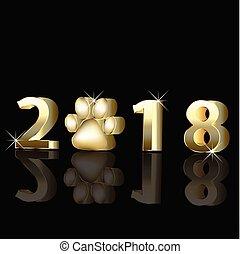 2018, 新年おめでとう, 挨拶, カード