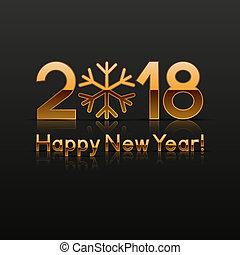 2018, 新年, グリーティングカード