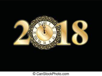 2018, année, nouveau