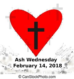 2018 ash wednesday icon - 2018 ash wednesday date icon