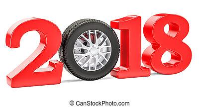 2018, autó, fogalom, noha, autó tol, 3, vakolás