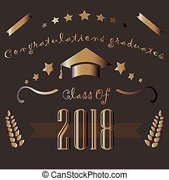 2018., classe, remise de diplomes, theme.