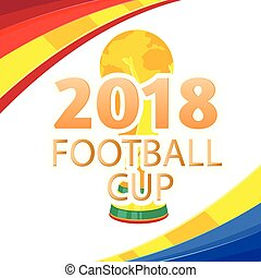 2018 Football Cup Championship Cup Colorful Background Vector Image