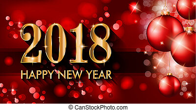 2018, gelukkig nieuwjaar, achtergrond, voor, jouw,...
