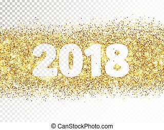 2018 glitter typography isolated on transparent background....