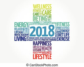 2018 Goals Health word cloud