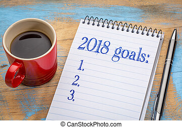 2018 goals list in notebook - 2018 goalslist in notebook a...
