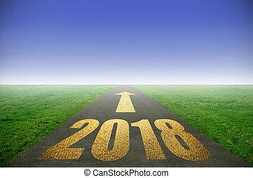 2018, goud, straat