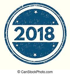 2018 grunge rubber stamp