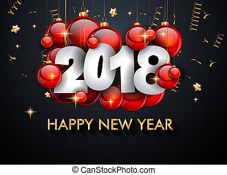 2018 Happy New Year Background for your Seasonal Flyers and...