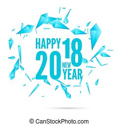2018 Happy new year background - Happy new year 2018 theme. ...