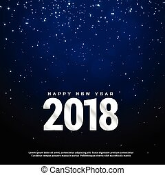 2018 happy new year blue background design