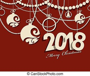 2018 Happy New Year card or background.
