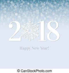 2018 Happy New Year Postcard