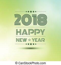 2018, heureux, année, nouveau