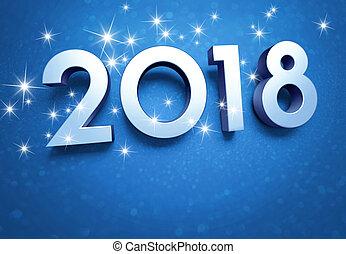 2018, karta, powitanie
