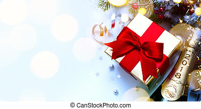 2018; Merry Christmas and happy New year; festive party background