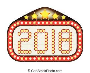 2018 Movie Theatre Marquee - A movie theatre or theatre...