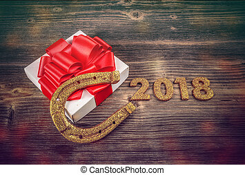 2018 New Year concept.