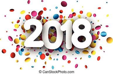2018 new year festive background.
