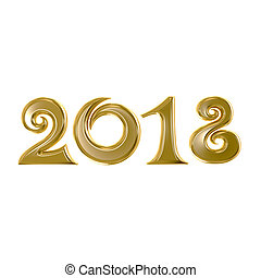 2018 New Year golden sign