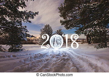 2018 New Year greeting card
