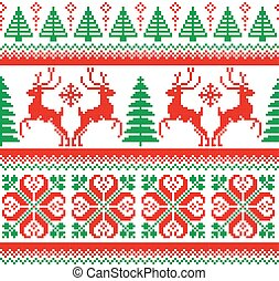New Year's Christmas pattern pixel - 2018 New Year's...