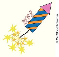 2018 New Years Rocket