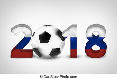 2018 russian soccer football 3d render design