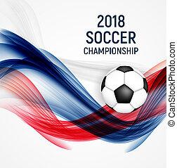 2018 Soccer Championship Background  Illustration