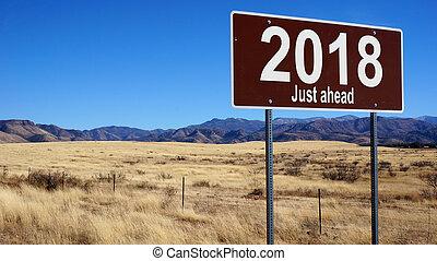 2018, właśnie, na przodzie, brązowy, droga znaczą
