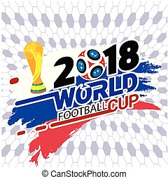 2018 World Football Cup Championship Cup Football Net Background Vector Image
