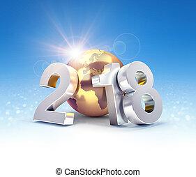 2018 Worldwide greeting symbol