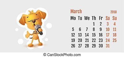 2018 year of yellow dog on Chinese calendar