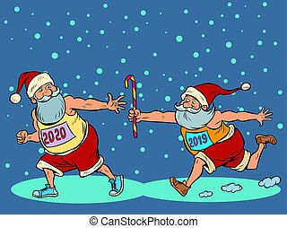 2019, γριά , αι βασίλης, 2020..christmas, relay., έτος ,...
