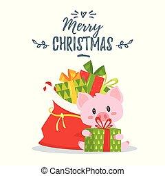 2019, 新しい, yea, クリスマス, グリーティングカード