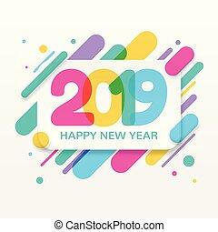 2019, 新年おめでとう, グリーティングカード