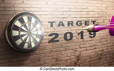 2019, 飛行, ダート盤, ターゲット, さっと動きなさい